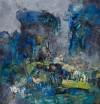 《混宇水域》(纸本.蜡质.油彩)50x50cm--2011.9