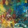 《金沙碧水》(纸本.蜡质.油彩)50x50cm--2011.9.