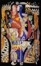 姐妹(蜡染画)(纸)1984