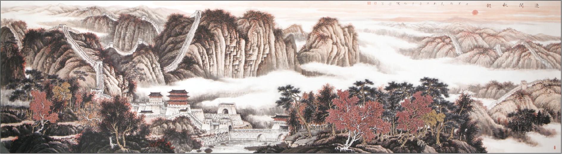 读王健梁工笔山水画