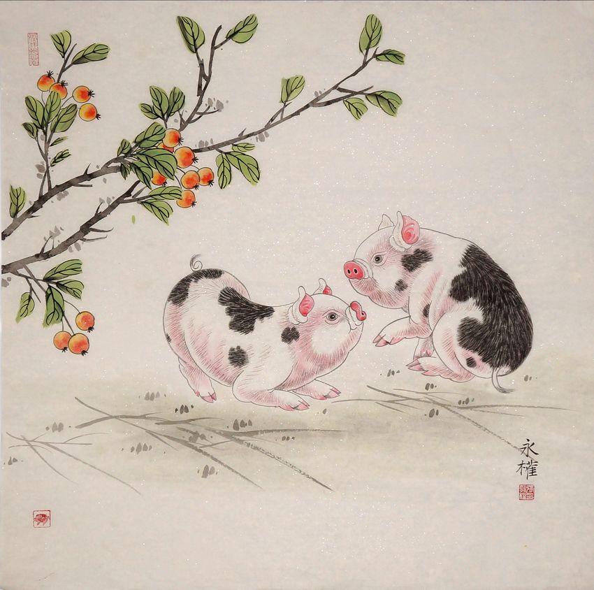 张永权的生肖猪——最具传统文化的节日礼物(1)