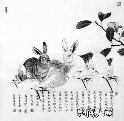 人民日报高度评价张永权生肖兔画